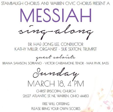 MESSIAH SING ALONG - MARCH 18, 2018