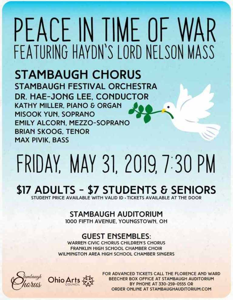 Spring Concert – Peace in Time of War 5-31-19