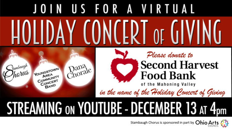 Annual Concert of Giving Going Virtual 12-13-20